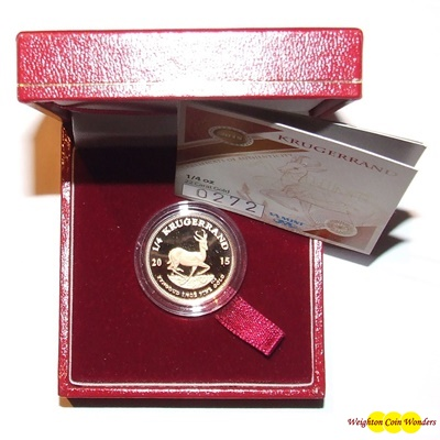 2015 Gold Proof 1/4oz KRUGERRAND